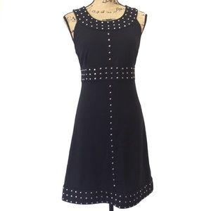 Michael Kors Black Studded Sleeveless Dress